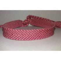 Passion-bracelet - Bracelet brésilien uni rose foncé - Bracelet - Coton
