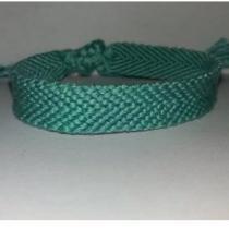 Passion-bracelet - Bracelet brésilien uni vert - Bracelet - Coton