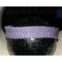 Passion-bracelet - Bracelet brésilien uni violet - Bracelet - Coton