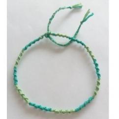 Passion-bracelet - Bracelet cheville spirale nuance de vert - Bracelet - Coton