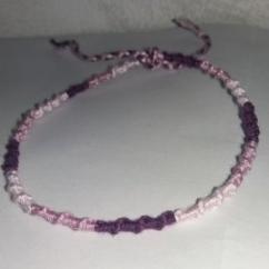 Passion-bracelet - Bracelet cheville spirale nuance de violet - Bracelet - Coton