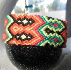 Passion-bracelet - Bracelet diamant chevron 24 fils - Bracelet - Coton