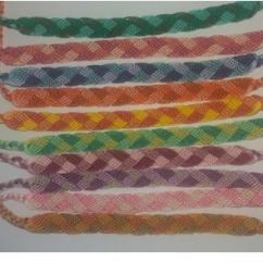Passion-bracelet - Lot de 10 bracelets brésiliens. Motif tresser différentes couleurs - Bracelet - Coton