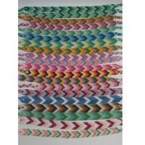 Passion-bracelet - Lot de 20 bracelets brésiliens chevron - Bracelet - Coton