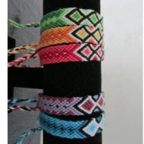 Passion-bracelet - Lot de 5 bracelets brésiliens modèle diamant - Bracelet - Coton