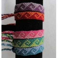 Passion-bracelet - Lot de 5 bracelets brésiliens modèle vague - Bracelet - Coton