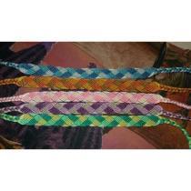 Passion-bracelet - Lot de 5 bracelets brésiliens tresse - Bracelet - Coton