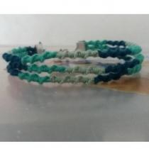 Passion-bracelet - Trio de bracelet spiral nuance de vert - Bracelet - Coton