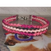Passion-bracelet - Trio de bracelet spiral nuance rose - Bracelet - Coton