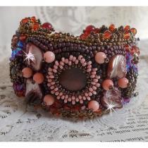 Patricia Wagner Créations - Bracelet Topaz avec des perles semi-précieuses - Manchette