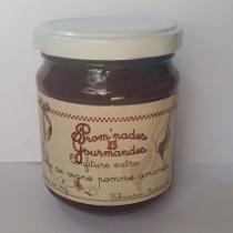 Prom'nades Gourmandes - Confiture pêche de vigne, pomme et amande - Confiture - 240gr