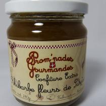 Prom'nades Gourmandes - Rhubarbe et fleurs de sureau - Confiture - 240gr