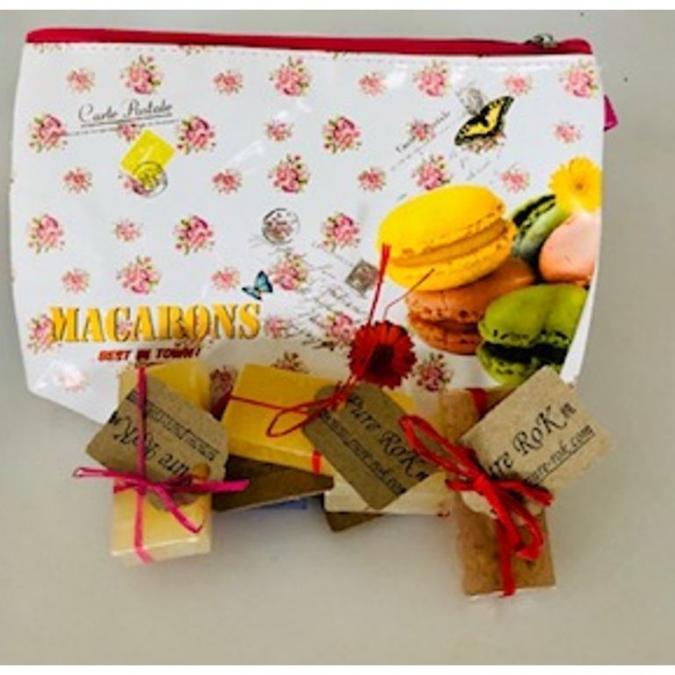 Pure RoK Savon Natural - Petit cadeau de savons avec trousse de maquillage - Savon - 0.25