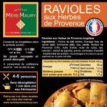 Les Ravioles de la Mère Maury - Ravioles Mère Maury surgelées aux Herbes de Provence - Ravioles - 600 gr