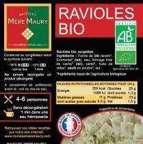 Les Ravioles de la Mère Maury - Ravioles Mère Maury surgelées BIO - Ravioles - 600 gr