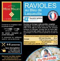 Les Ravioles de la Mère Maury - Ravioles surgelées au Bleu de Laqueuille - Ravioles - 600 gr