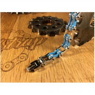 Roadstrap - Bracelet Femme Bleu en chaîne de distribution pour les attaché(e)s de Moto / Vélo - Bracelet - Acier