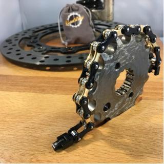 Roadstrap - Bracelet Femme en chaîne de distribution pour les attaché(e)s de Moto / Vélo - Bracelet - Acier
