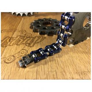 Roadstrap - Bracelet Man Bleu en chaîne de transmission pour les attaché(e)s de moto / Vélo - Bracelet - 4668