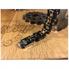 Roadstrap - Bracelet Man gold en chaîne de transmission pour les attaché(e)s de moto / Vélo - Bracelet - Acier