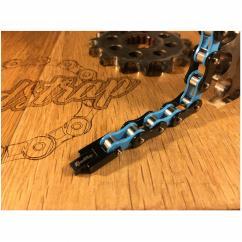Roadstrap - Bracelet Mixte Bleu en chaîne de transmission pour les attaché(e)s de moto / Vélo - Bracelet - Acier