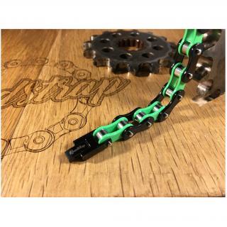 Roadstrap - Bracelet Mixte Vert en chaîne de transmission pour les attaché(e)s de Moto / Vélo - Bracelet - Acier