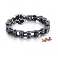Roadstrap - Bracelet Old Scool acier brossé style usé en chaîne de transmission pour les attaché(e)s de Moto / Vélo - Bracelet - Acier