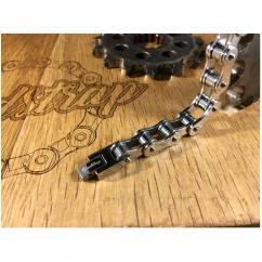 Roadstrap - Bracelet Silver en chaîne de transmission pour les attaché(e)s de Moto / Vélo - Bracelet - Acier