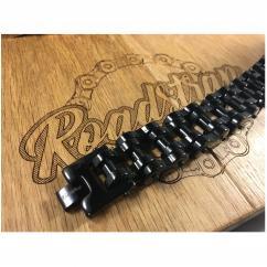 Roadstrap - Bracelet vintage black en chaîne de transmission pour les attaché(e)s de moto / Vélo - Bracelet - Acier