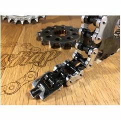 Roadstrap - Bracelet Vintage silver & black en chaîne de transmission pour les attaché(e)s de moto / Vélo - Bracelet - Acier
