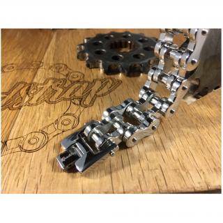 Roadstrap - Bracelet Vintage Silver en chaîne de transmission pour les attaché(e)s de moto / Vélo - Bracelet - Acier
