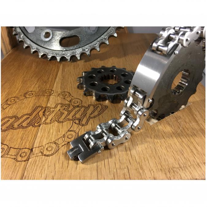 Roadstrap - Bracelet Vintage Silver gourmette en chaîne de transmission pour les attaché(e)s de moto / Vélo - Bracelet - Acier