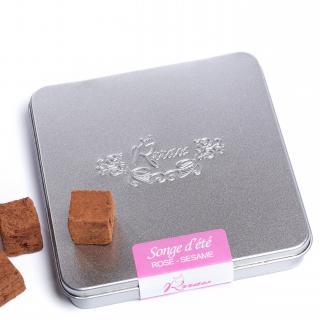 Rrraw Cacao Factory - Truffes Songe d'été (rose- sésame) - Chocolat