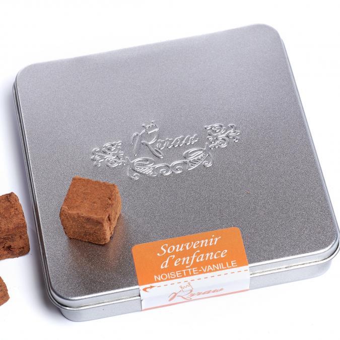 Rrraw Cacao Factory - Truffes Souvenir d'enfance (vanille- noisette) - Chocolat