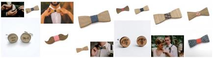 Sacdenoeud - Noeuds papillons, boutons de manchette en bois recyclés fabrication en France en Hauts de France