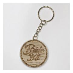 Sacdenoeud - Badge en bois Bride to Be - Badge mariage