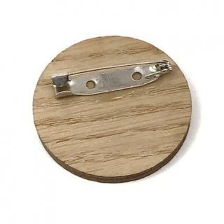 Sacdenoeud - Badge en bois design et prenoms personnalisables - Badge mariage