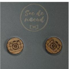 Sacdenoeud - Boutons de Manchette - appareil photo - Bouton de manchette