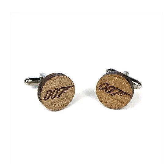 Sacdenoeud - Boutons de manchette en bois James Bond 007 - Bouton de manchette