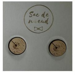 Sacdenoeud - Boutons de Manchette - pissenlit - Bouton de manchette