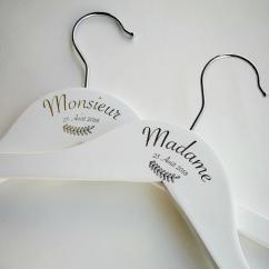 Sacdenoeud - Duo Cintre Mariée et Marié personnalisés - Cintre de marié