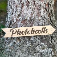 Sacdenoeud - Flêche en bois recyclé Photobooth 20*30 - Panneau directionnel