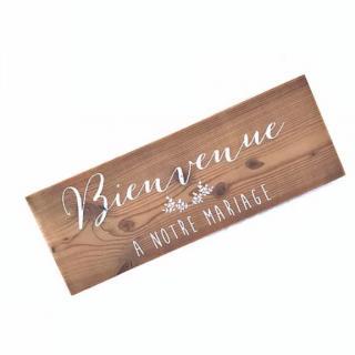 Sacdenoeud - Panneau de Bienvenue Mariage - Enseigne mariage