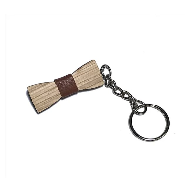 Sacdenoeud - Porte-clé noeud papillon Dandy chêne - divers coloris - Porte-clés