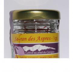 Safran des aspres - Dieval laurent - Safran AB millésimé - 1 gr - epice