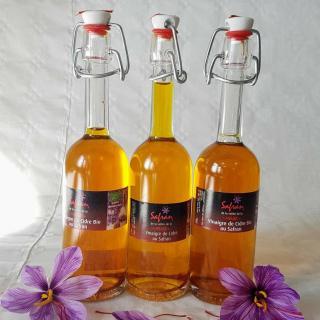 SAFRAN DE LA VALLEE DE LA MEUSE - Vinaigre de cidre au safran Bio 100ml - Vinaigre -  -