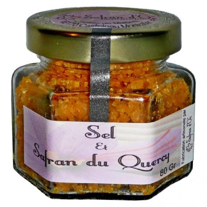 Safran d'Oc - Sel safrané 80 gr - sel aromatique