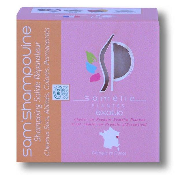 Samélie Plantes Cosmétique Bio - Sam' Shampouine, Shampooing Solide Réparateur - Shampoing - 0,075
