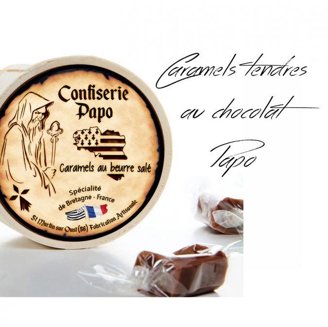 Saveurs de Bretagne - Caramels tendres au beurre frais de Bretagne - Chocolat - Caramels