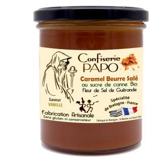 Saveurs de Bretagne - Sauce Caramel Beurre salé VANILLE - Confiserie